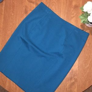 Ann Taylor Teal Pencil Skirt